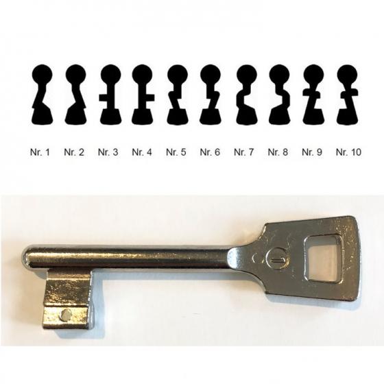 ABUS Ersatzschlüssel Einsteckschloss ES BB universal Nr. 01 bis Nr. 10