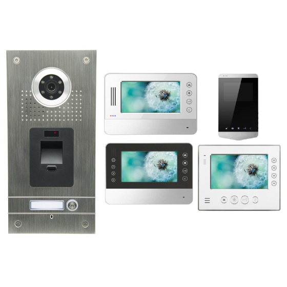 AE SET CKZ1 Anthell Electronics Fingerprint Fingerabdruck Video Türsprechanlage