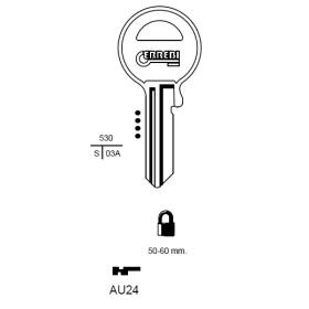 ERREBI AU24 Schlüsselrohling für ABUS