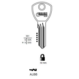 ERREBI AU86 Schlüsselrohling für ABUS