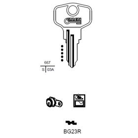 ERREBI BG23R Schlüsselrohling für BURG