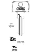 ERREBI DM19 Schlüsselrohling für DOM
