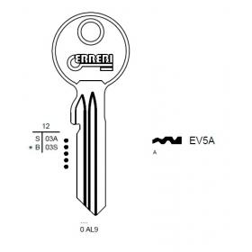 ERREBI EV5A Schlüsselrohling für EVVA