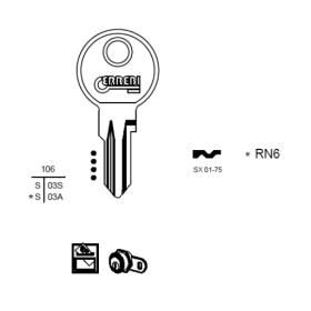 ERREBI RN6 Schlüsselrohling für RENZ