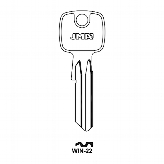 JMA WIN-22 Schlüsselrohling für Winkhaus