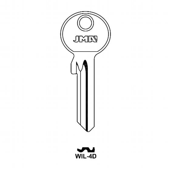JMA WIL-4D Schlüsselrohling für Wilka