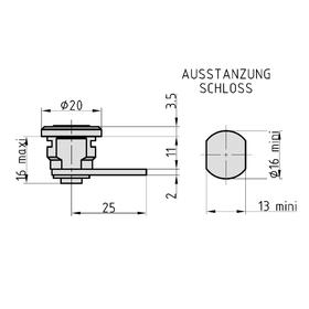 BASI HS 313 VS Universal-Burg mit Mutter 2 Schlüssel...
