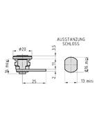 BASI HS 313 VS Universal-Burg mit Mutter 2 Schlüssel hellverchromt