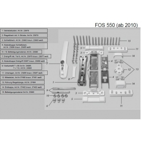 ABUS FOS550 Ersatzteile