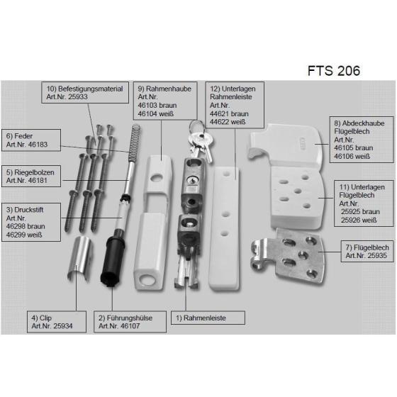 ABUS FTS206 Ersatzteile