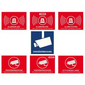 ABUS Warnaufkleber Aufkleber Alarm Videoüberwachung