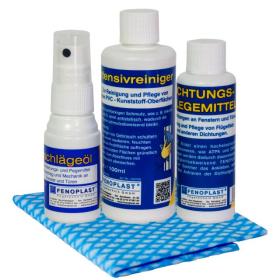 M TEC Reinigungs- und Pflege-Set für Kunststofffenster