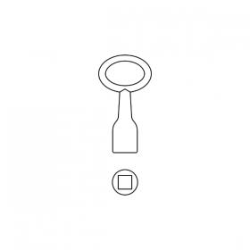 BASI 301V Dornschlüssel Innen-Vierkant