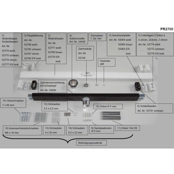 ABUS PR2700 Ersatzteile