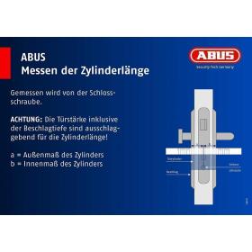 ABUS ECK550 Profil-Knaufzylinder gleichschließend