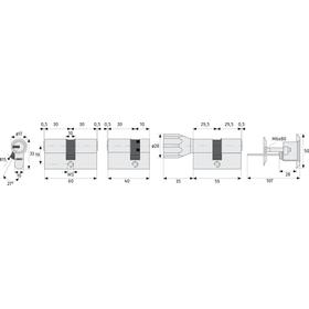 ABUS EC550 Profil-Doppelzylinder gleichschließend