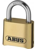 ABUS Messing-Zahlenschloss 180IB/50 Vorhangschloss, Marine, 25543