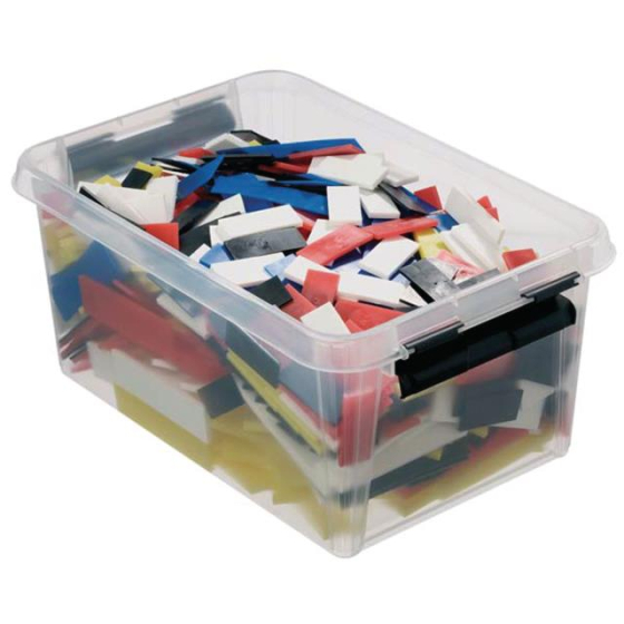 Knudsen Distanzklötze Box = 520 Stück sortiert