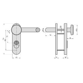 BASI SB/FS 2200K FS-Schutzbeschlag ES1 rund/eckig,...