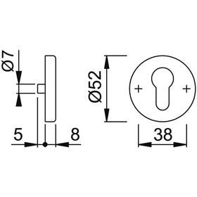 HOPPE Haus-Schlüsselrosette E42NSA