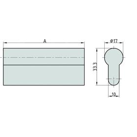 BASI PZ Profilstange, Montagehilfe für Türbeschläge, Messing poliert, 200 oder 300 mm