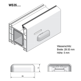 Grundmeier Wasserschlitzkappe mit Windstopp -...