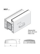 """Grundmeier Wasserschlitzkappe mit Windstopp - Ausführung """"Topform"""""""