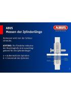 ABUS XP2S 2er Set Profil-Doppelzylinder gleichschließend inkl. Sicherungskarte