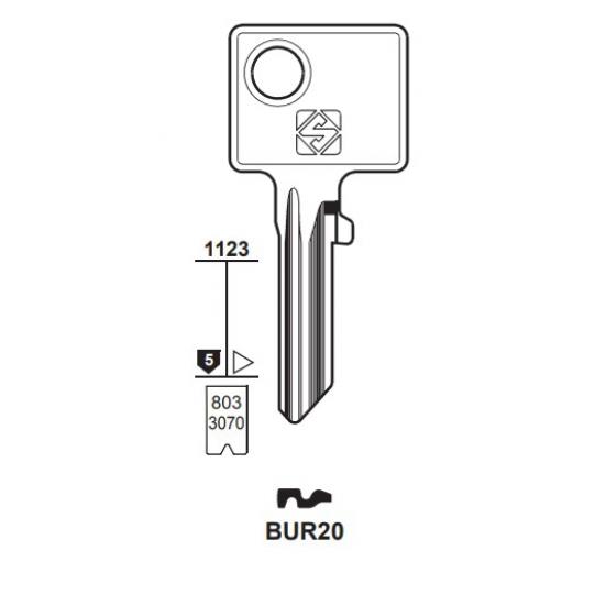 Silca BUR20 Schlüsselrohling für BURG