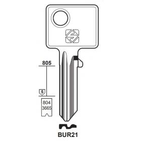 Silca BUR21 Schlüsselrohling für BURG