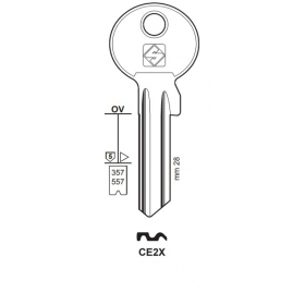 Silca CE2X Schlüsselrohling für CES