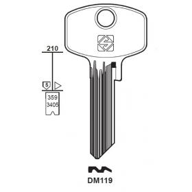 Silca DM119 Schlüsselrohling für DOM