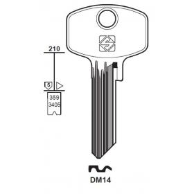 Silca DM14 Schlüsselrohling für DOM