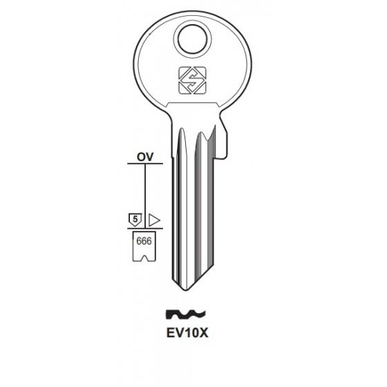 Silca EV10X Schlüsselrohling für EVVA