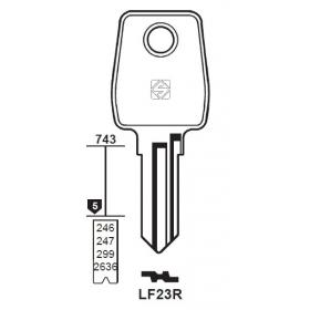 Silca LF23R Schlüsselrohling für LOWE &...