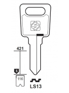 Silca LS13 Schlüsselrohling für LAS