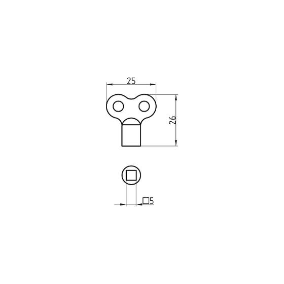 BASI 323 Entlüftungsschlüssel f. Heizkörper