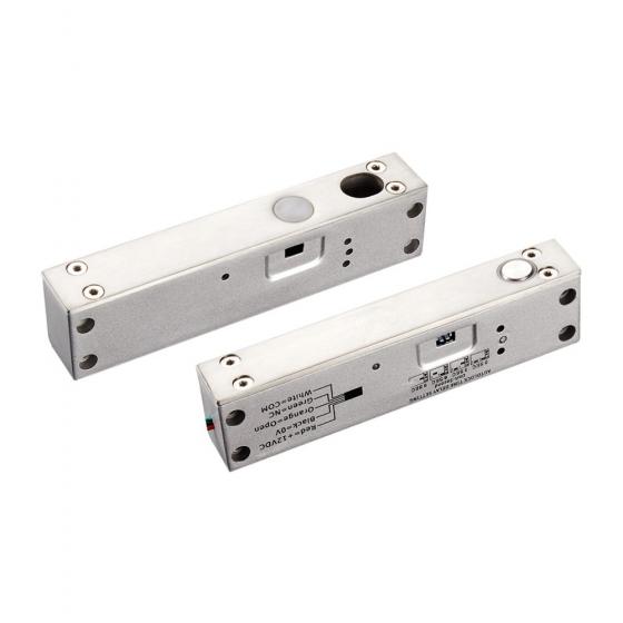 Anthell Electronics Elektrische Bolzen-Schloss 12V DC DIN-links & DIN-rechts incl. Aufschraubgehäuse Fail Safe (stromlos offen)