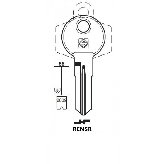 Silca REN5R Schlüsselrohling für RENZ