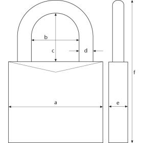 ABUS 165 myCode Zahlenschloss