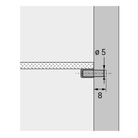 Hettich 79709 Glas Bodenträger Zapfen 5 mm...