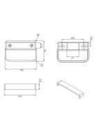 OGELE Ziehtürgriff Kunststoff 70,5 x 9 mm