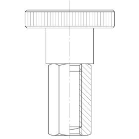 Verbindungsmuttern (Distanzmuttern) Sechskant galv. verzinkt