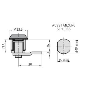BASI HS 326 Hebelschloss, VS, für Format, mit...