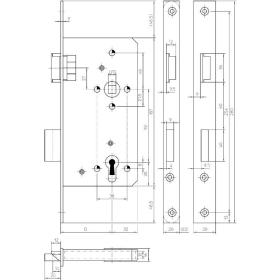 KFV 154 Einsteckschloss für Haustüren