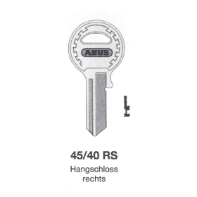 ABUS Schlüsselrohling 45/40 RS