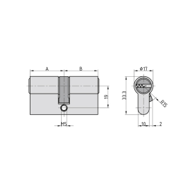 BASI V55 Profil-Doppelzylinder