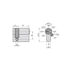 BASI V55 Profil-Halbzylinder