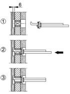 HOPPE Eisen F/Ei Profilstift Wechselstift für einseitig gebohrte Tür