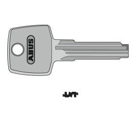 ABUS Ersatzschlüssel D8 Bohrmuldenschlüssel...